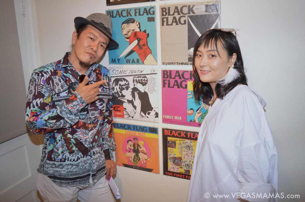 Sush Machida with wife Eri Machida at the Raymond Pettibon opening reception
