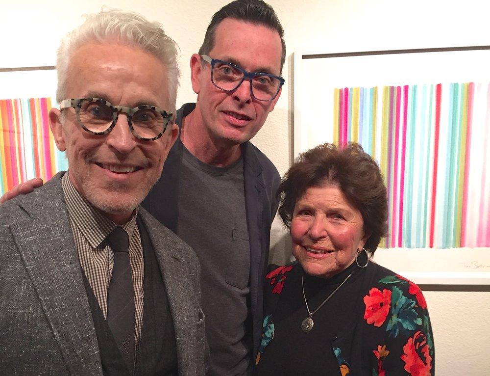 Roger Thomas, Tim Bavington and Joyce Mack
