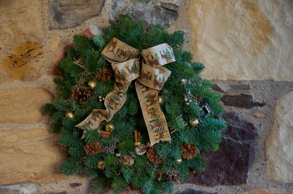 Spruce Door Wreath 12""