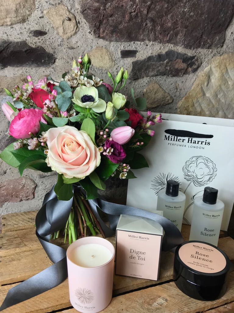 Miller Harris Offer - Purchase any Valentine's posy or bouquet and receive 20% off any Miller Harris Rose Silence Body & Bath products and Digne De Toi cangles.