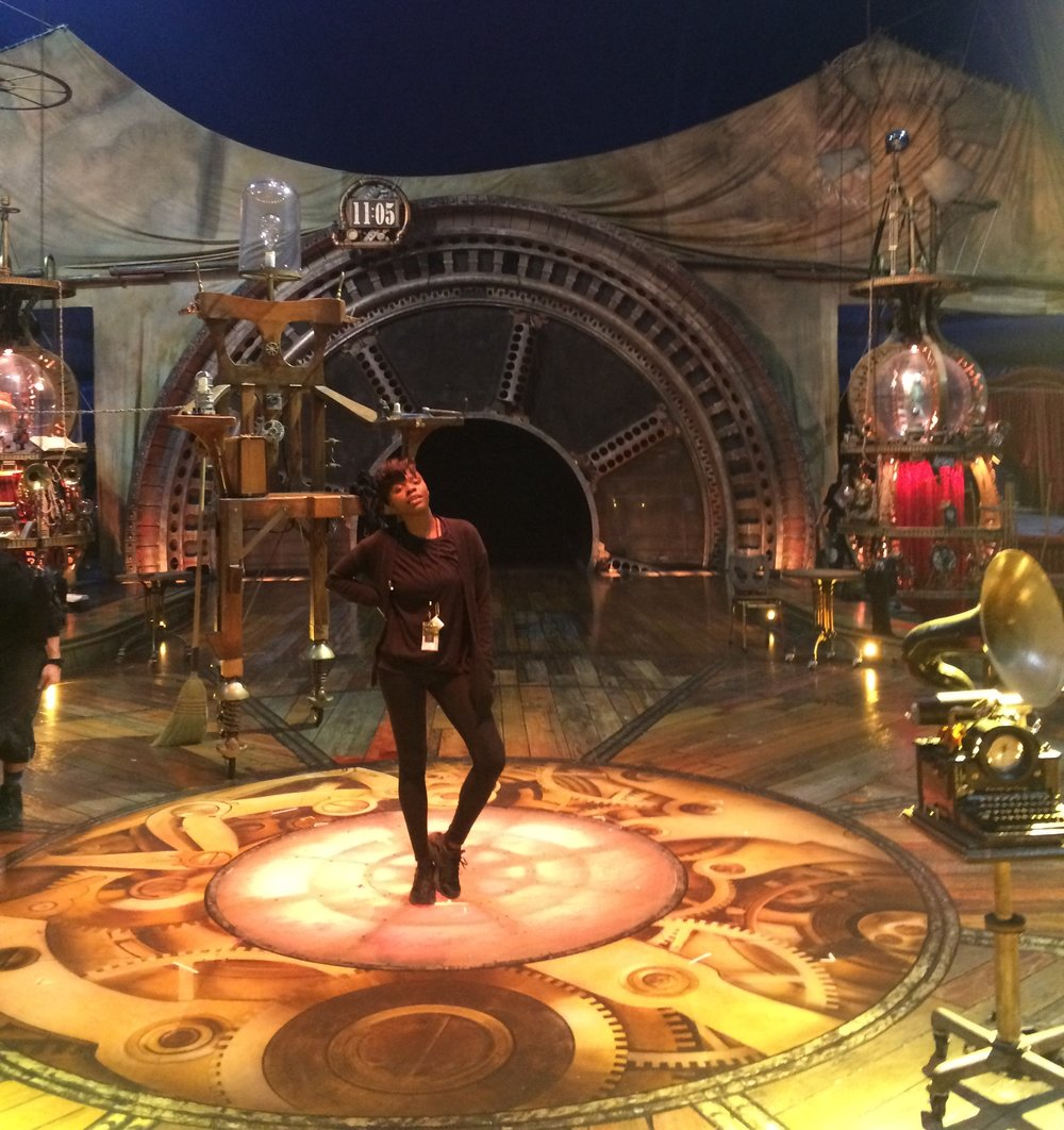 Abs photo'd on an empty Kurios stage after a show.