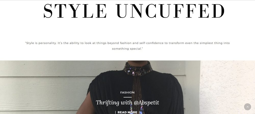 """Thrifting with @AbsPetit""  -    www.StyleUncuffed.com"