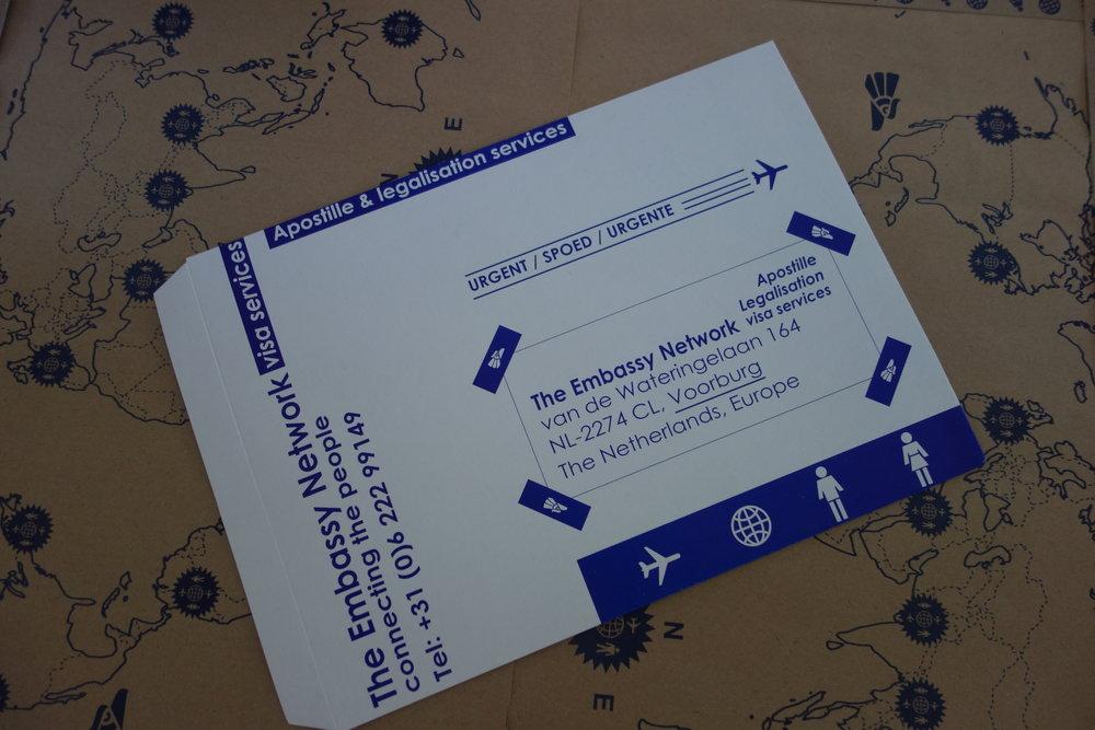 Apostille Legalisation Visa envelopes