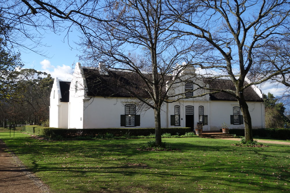Free lunch at Boschendal Wine Estate. It's summer in Cape Town's Stellenbosch wine area.