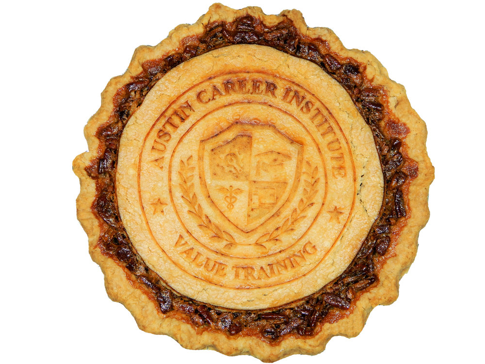 Austin, TX logo on pie