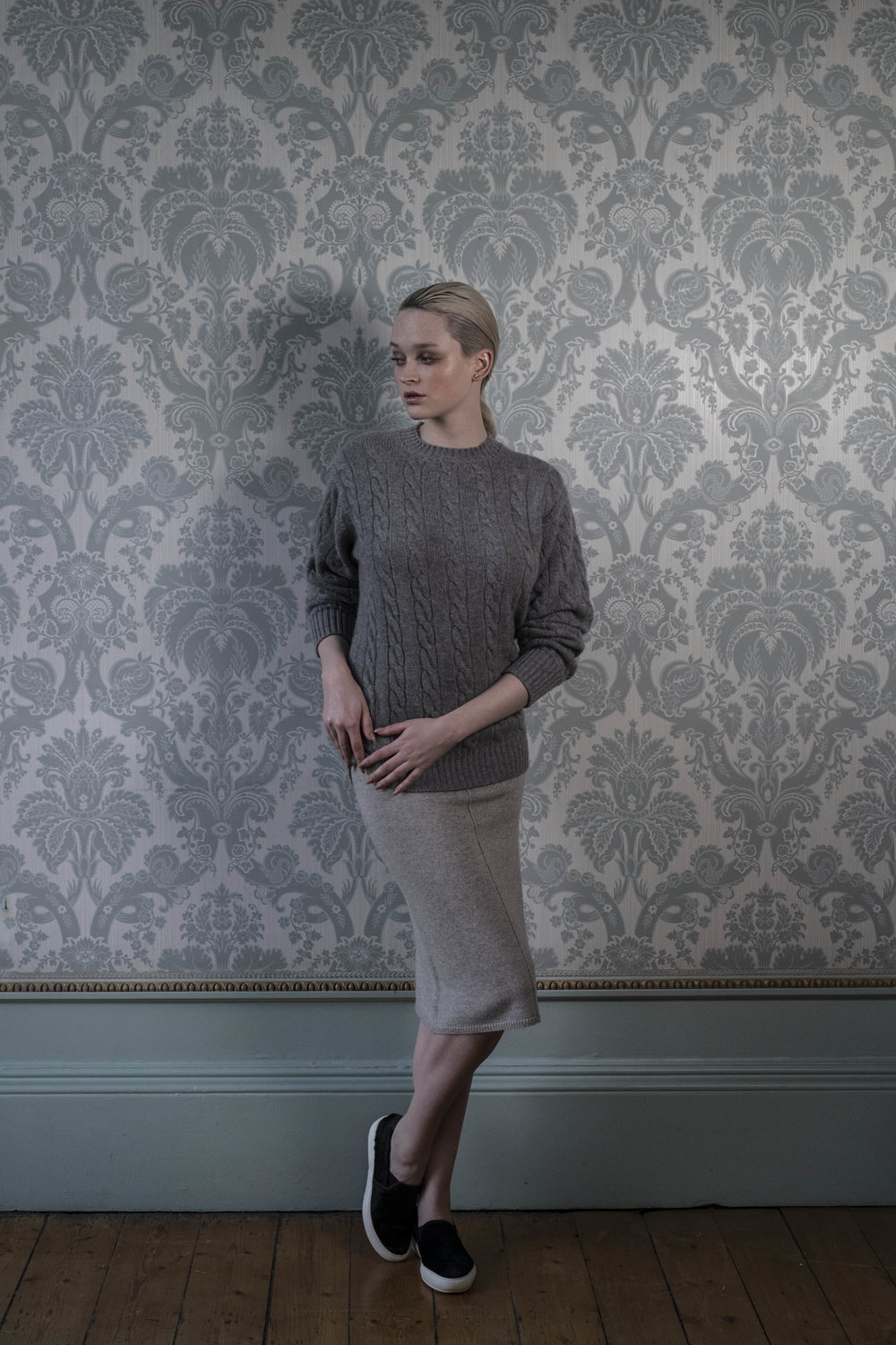 Linda shot by Brian Sweeney for Cashmere: a guide to Scottish luxury