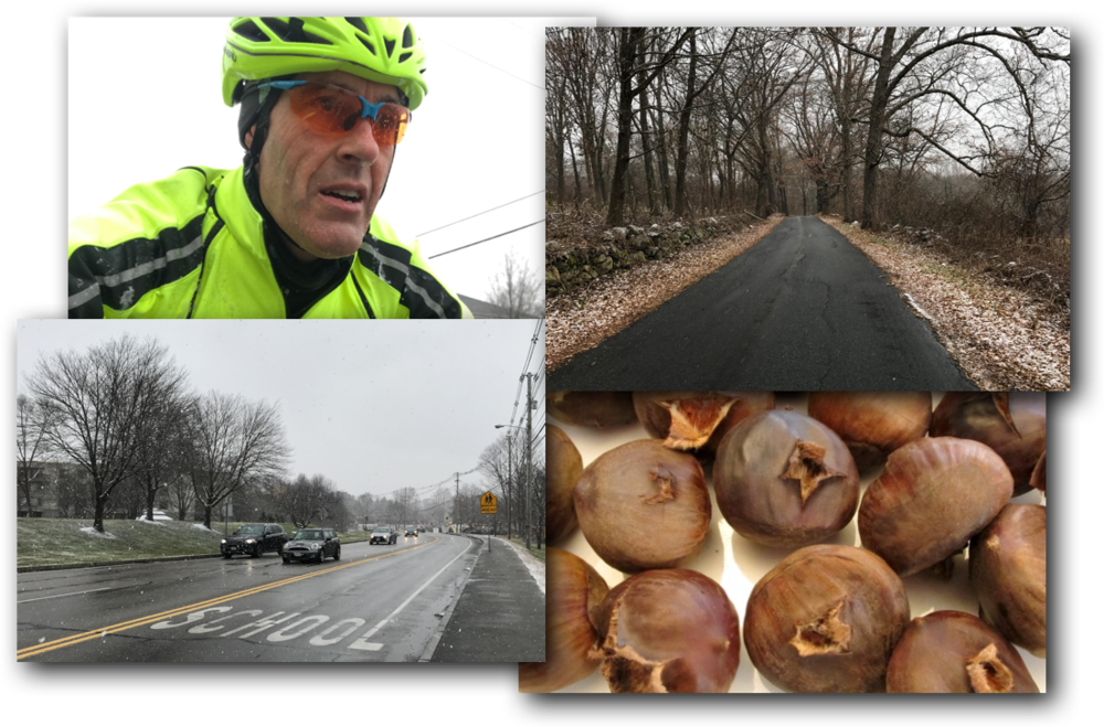 """A good """"Star Wars"""" rip on the bike and freshly roasted chestnuts are two big winter favorites!"""