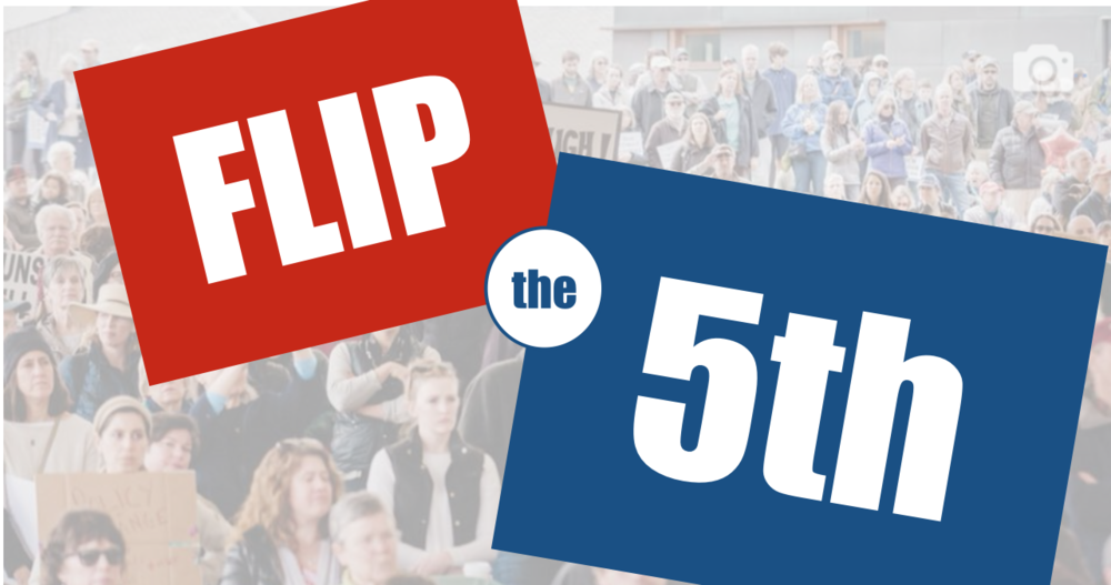 Flip the 5th Kickoff! - The November Congressional elections provide our best chance for stopping Trump and his agenda in its tracks.NOTE: This event is being rescheduled to provide maximum impact!