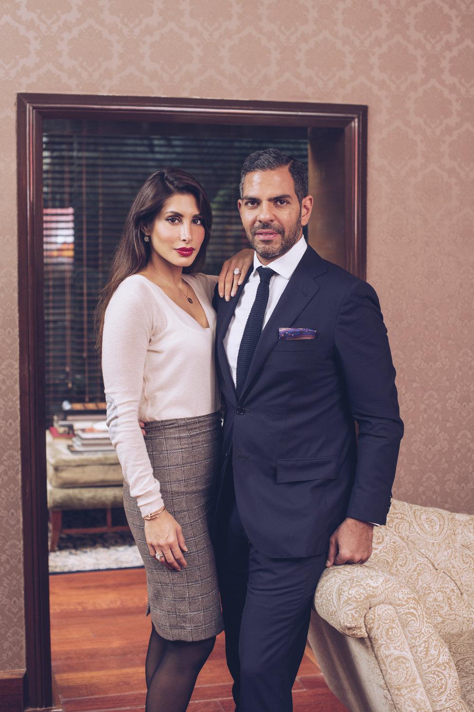 Sunjay Kapur & Priya Sachdev photographed by Aditya Mendiratta