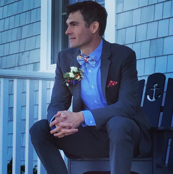 Worthy Goods, The Maine Square and Simple Elegance of Maine Floral Design. All Maine Brands working together to create Ben's most handsome look for his wedding day.