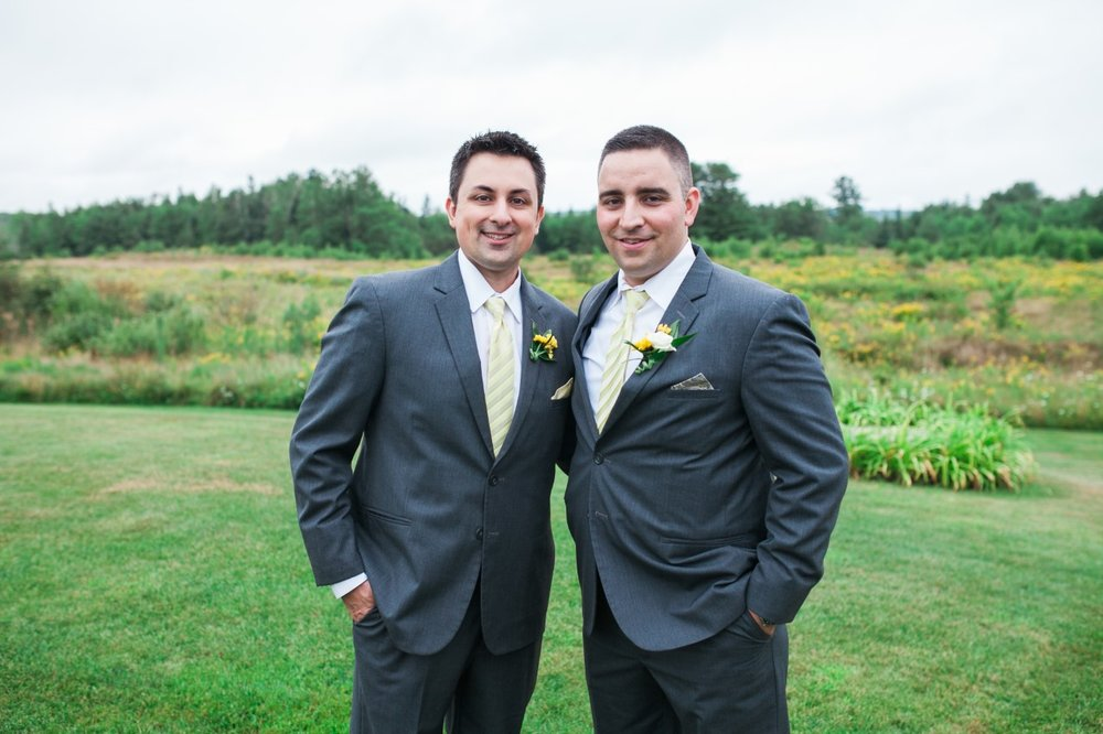The groom and his best man.