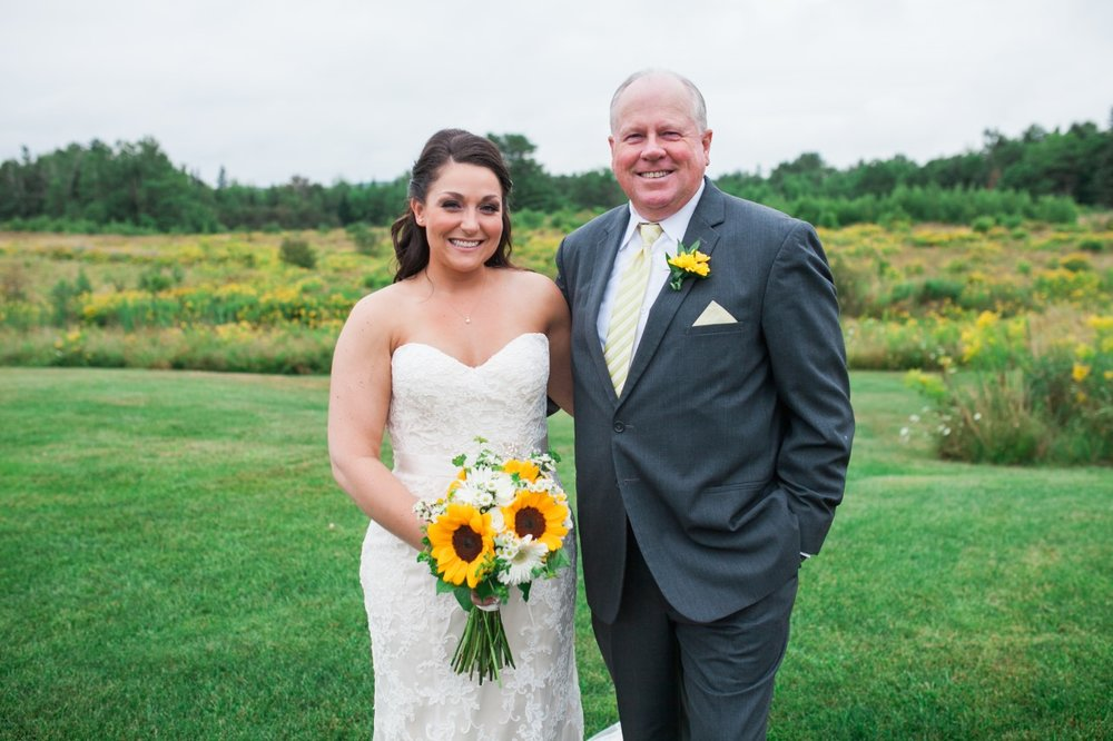 The bride and her loving father.