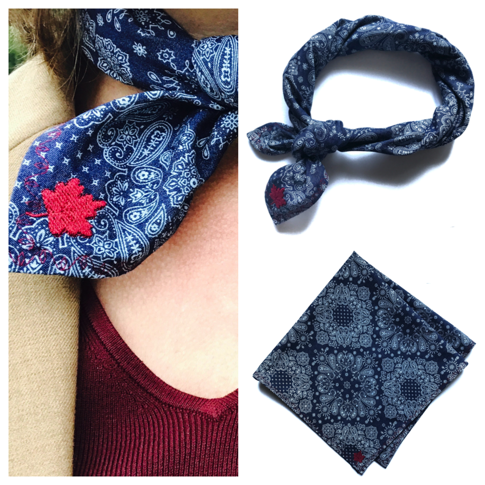 The Maine Fall Maple Leaf Scarf. - Capturing the beauty of Maine's most colorful season.