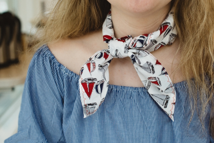 Shop the Spring Sailboat Scarf. - Click here to shop.
