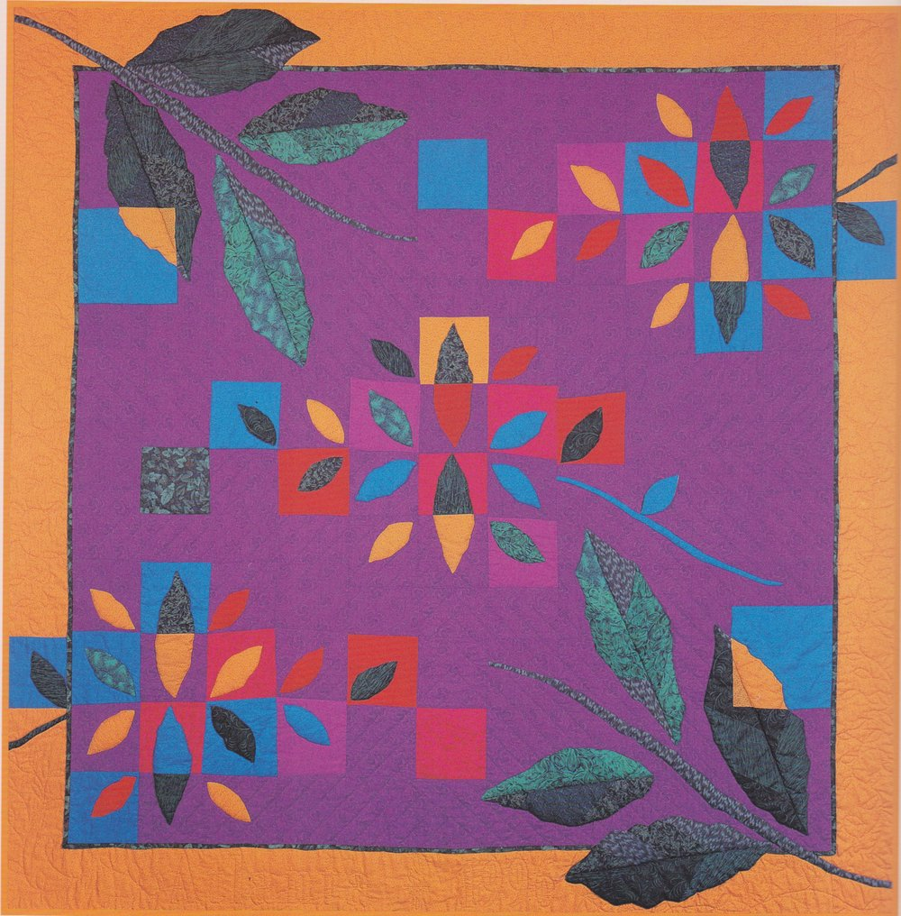 A Quilt of Leaves: This quilt was designed especially for the 1996 Olympic Games in Atlanta, to be the specific theme identifying this Games in history amidst all the others.