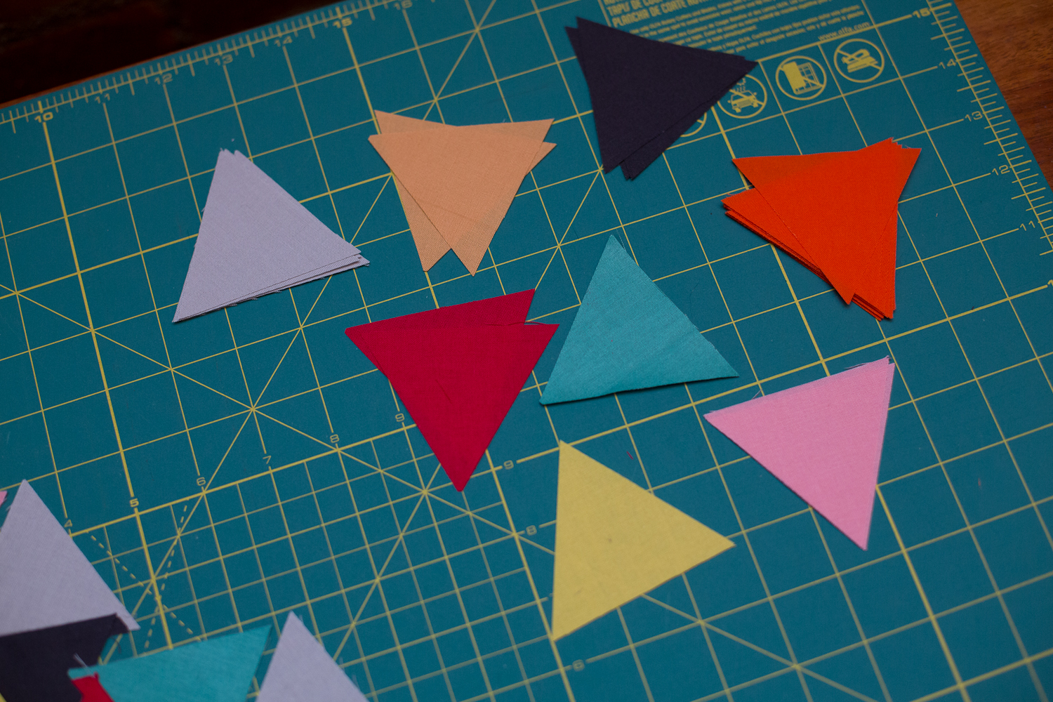 Little triangles in lovely colors