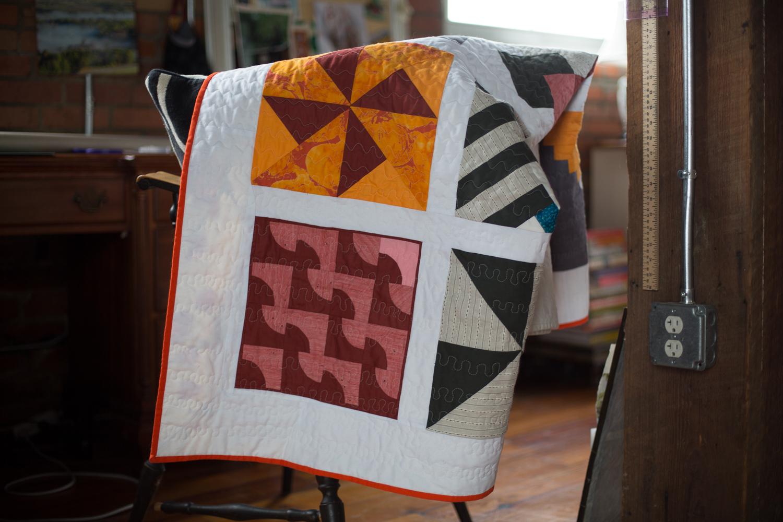 modern sampler quilt