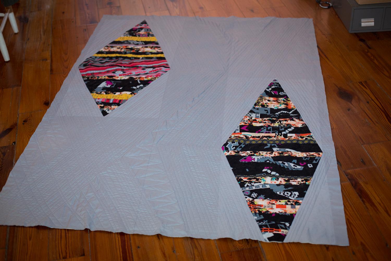 modern diamond quilt 5