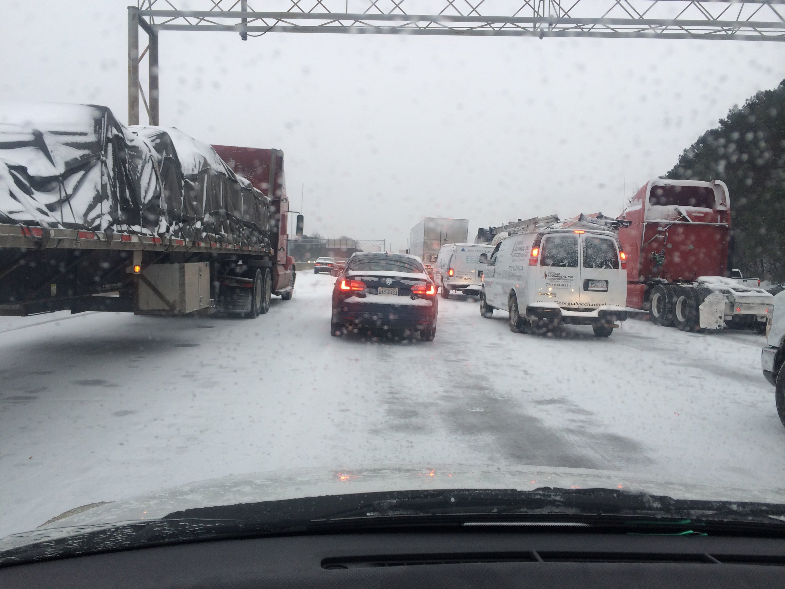I-75 snow atlanta traffic