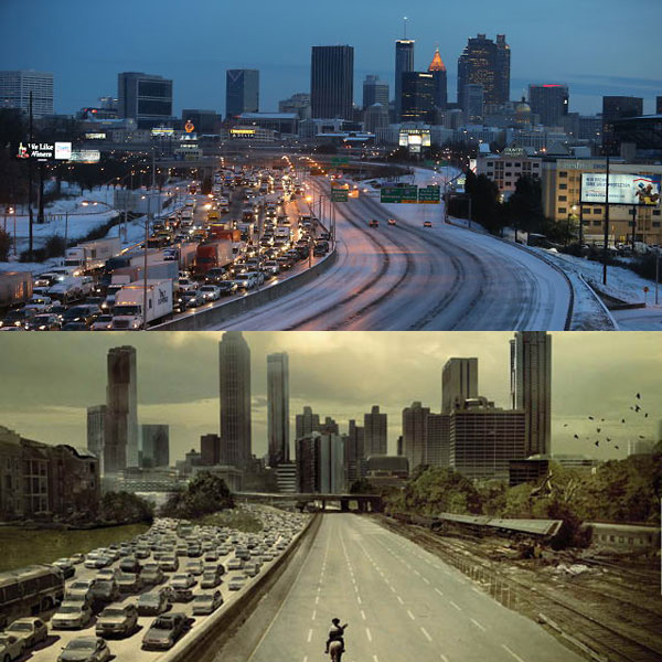 atlanta snow next to walking dead