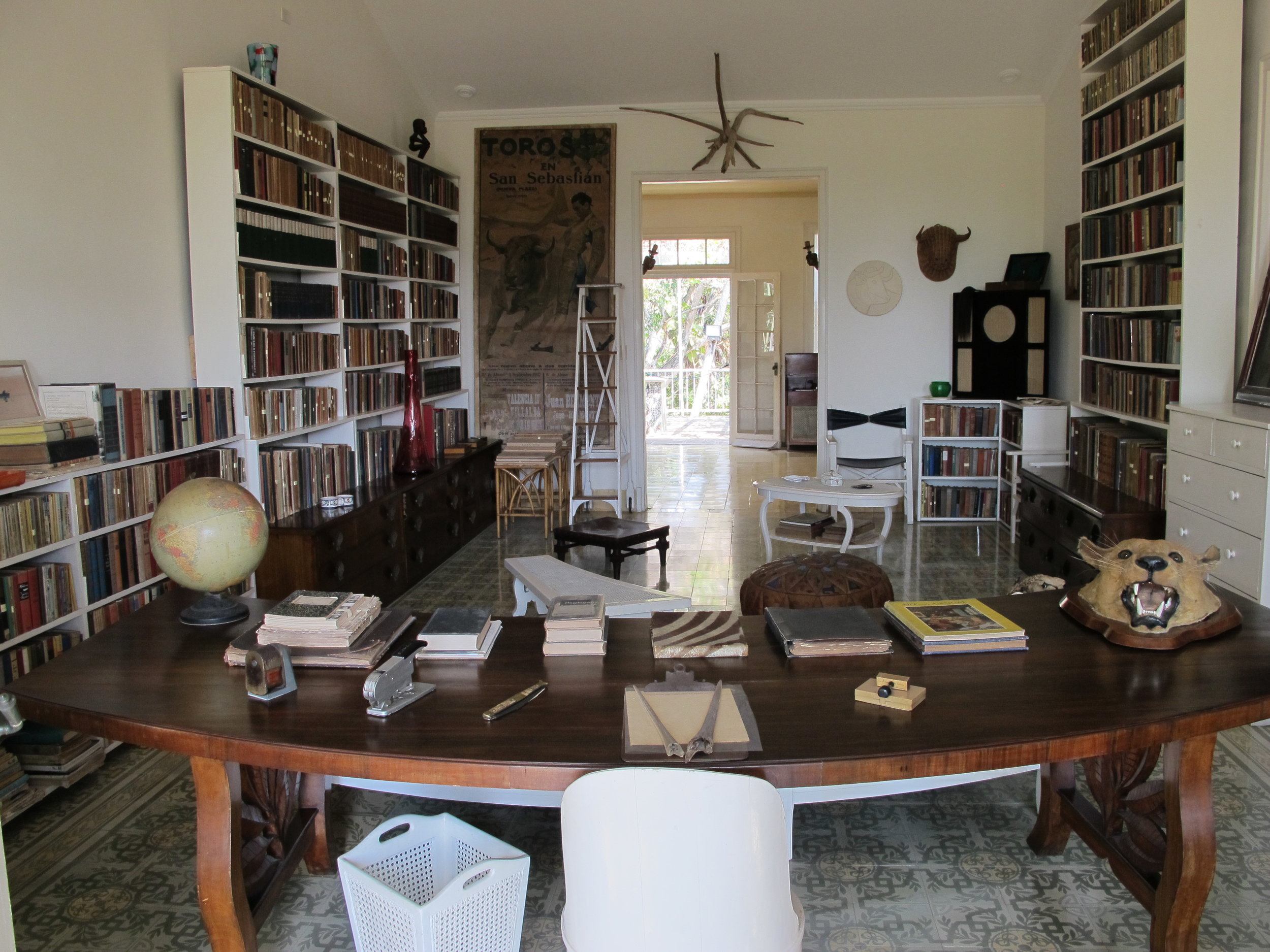 Swoon. My favorite room and image from this trek to see Hemingway's digs
