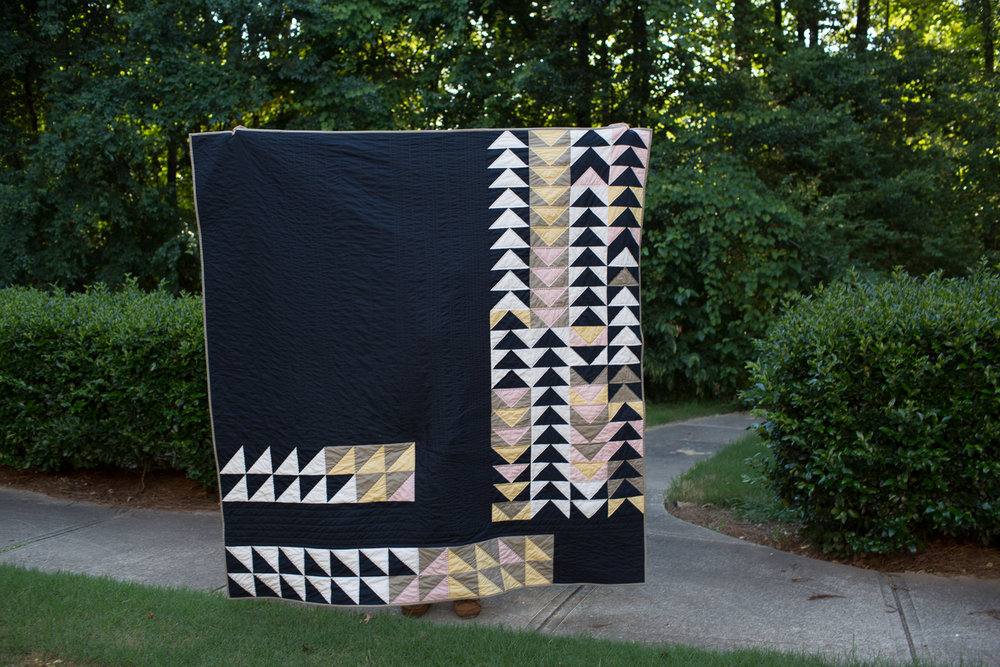 flying geese modern quilt