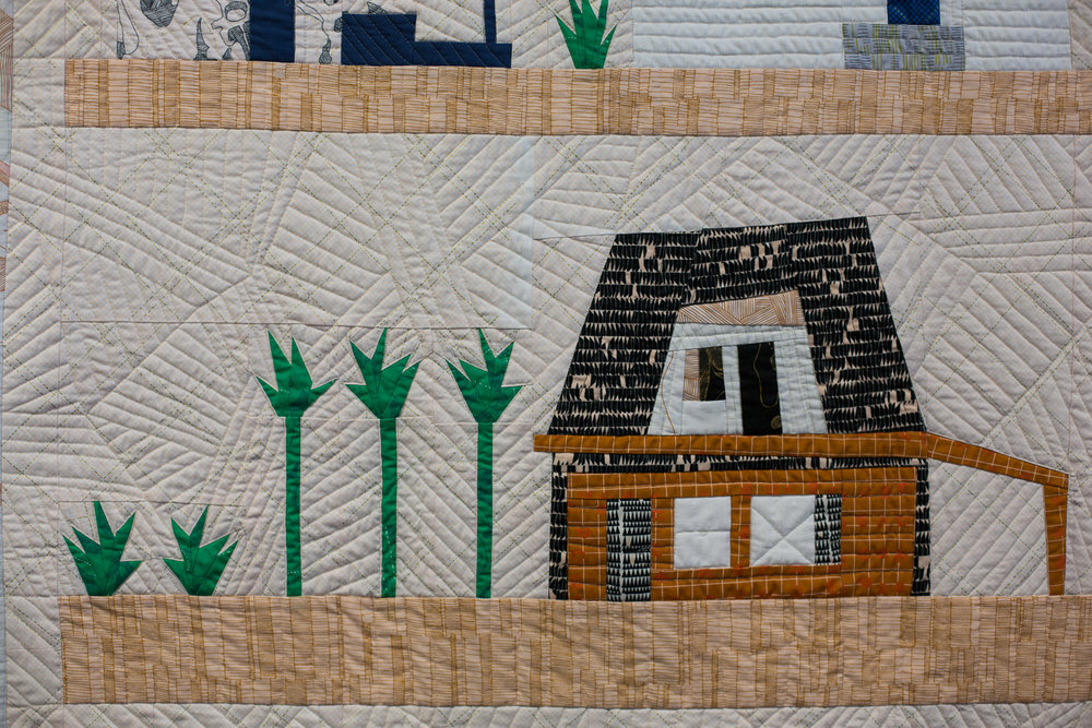 close up the local quilt carkai