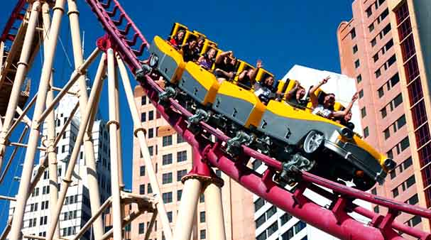 ny ny rollercoaster Las Vegas attraction