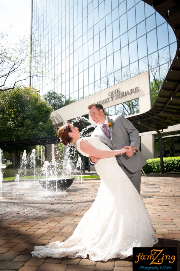 commerce club greenville sc wedding ceremony reception dj photo booth famzing downtown greenville april wedding