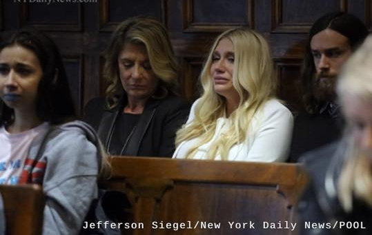 My cousin Lindsay by Kesha's side in Court in January 2016