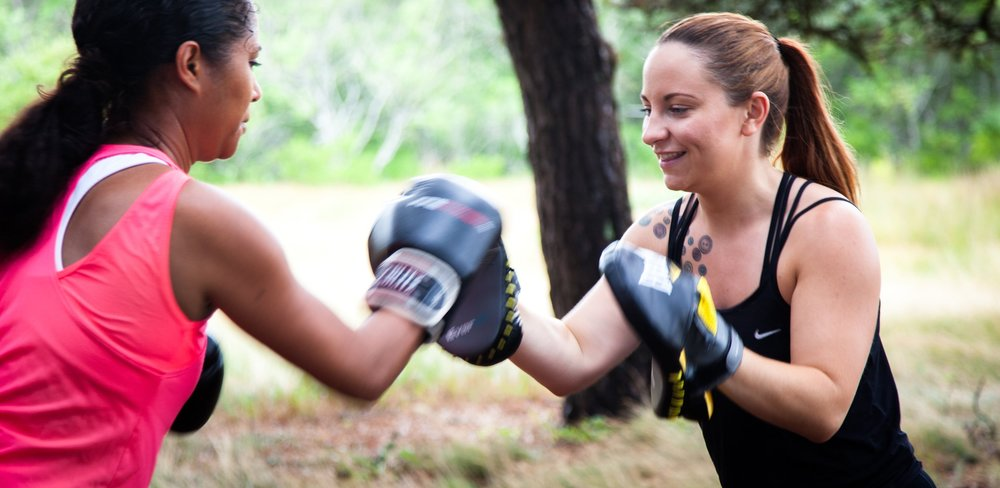 Lorna loves to help her clientsfind funin fitness. -