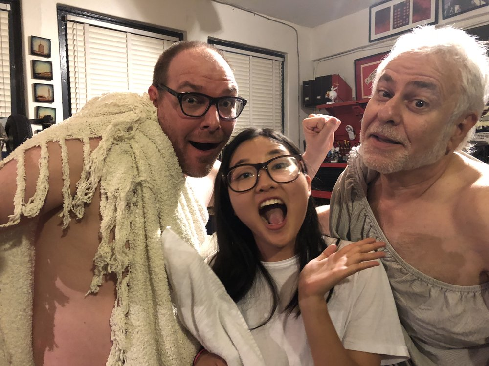 Robert and Ira show podcast guest, Anika, about partying toga-style.