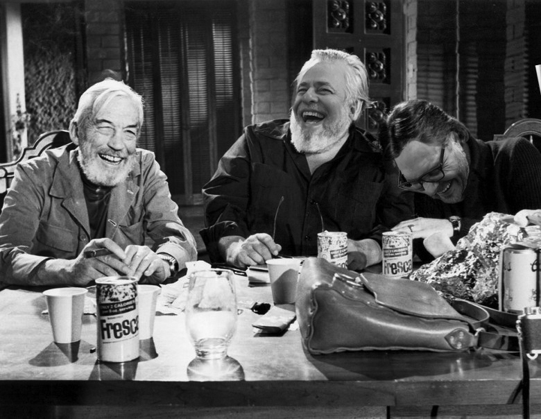 Jonny, Orson, and Petey share a barrel of laughs over a Fresca.