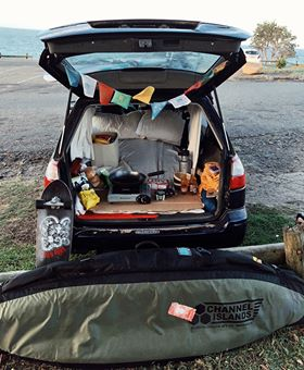 wagon living, east coast AUS road trip.