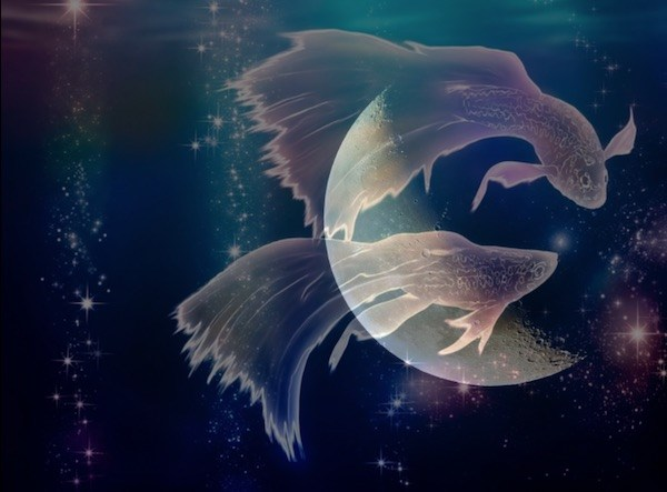 """The symbol for Pisces of the two fish swimming in opposite directions also reflects this energy, and signifies finding harmony and peace no matter what direction you are flowing in life"""