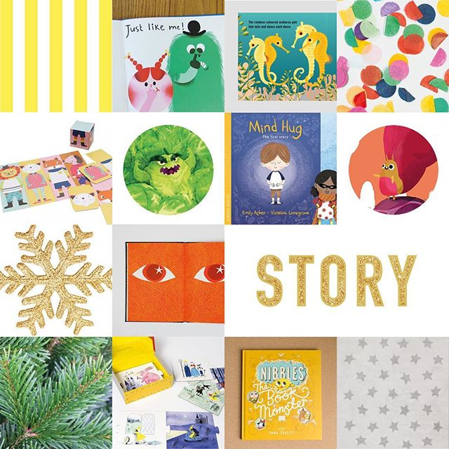 This Saturday (Dec 16th) with @kin_bath  @komedia_bath #familyxmasfest, we'll be hosting a children's storytelling space! Come along to share wonderful books, listen to stories and play storytelling games. See you there from 10am. Here's a sneak peek :) . #independent #creative #family#childfriendly #families #Bath #somerset . Artists featured here: Just Like Me, Amélie Falière, Joshua Seigal, The Marine Team, Madeleine Rogers, Sproutzilla vs. Christmas, Tom Jamieson and Mike Byrne, Mind Hug: The First Story, Vanessa Lovegrove and Emily Arber, Big Hid, Roisin Swales, The Fox and the Star, Coralie Bickford-Smith, Story Box, Anne Laval, Nibbles The Book Monster, Emma Yarlett.