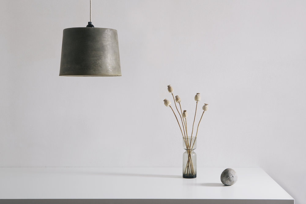Lightweight Concrete Lampshade