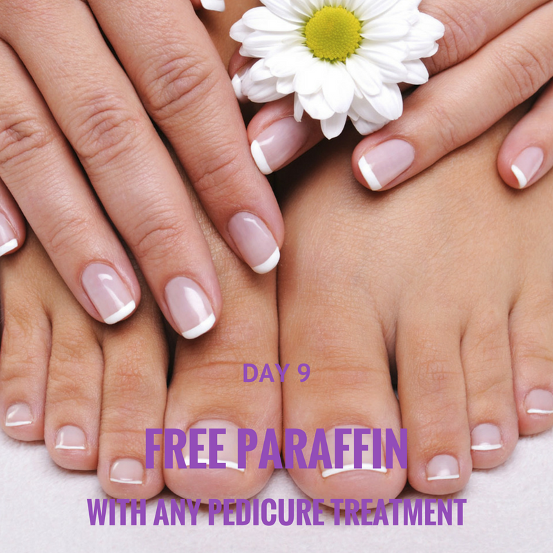 Free paraffin with any pedicure treatment