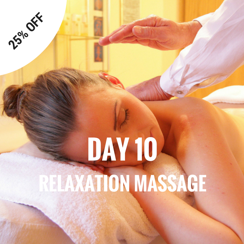Save 25% on Relaxation Massage