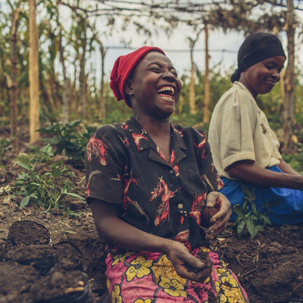 Grace, preparing coffee tree seedlings.jpg