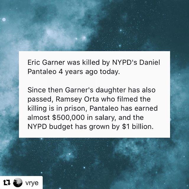 #Repost @vrye (@get_repost) ・・・ 4 years later... smfh. #justice4ericgarner // tweet via @nwmalinowski