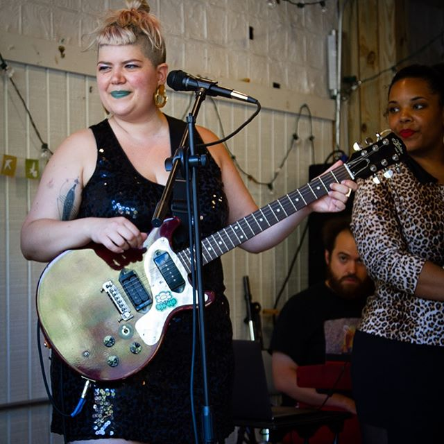 Can you tell we had fun at Queer Qarnival in Boston?! Swipe for us looking increasingly giddy from sleep deprivation & the gorgeous energy of this festival that @flightorvisibility & @anaisazul made with such care. Thanks for having us! 📷: @hoooten #latergram #nofilter #queermusic #sequinsandleopard #minitour
