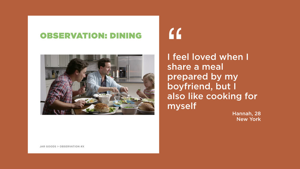 Our research was focused on dimensionalizing the hopes and fears of cooks and food lovers
