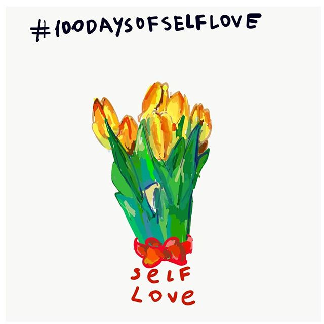Today is the first day of 100 day project. #100daysofselflove is something the world is missing 💛 let's make it brighter #100dayproject