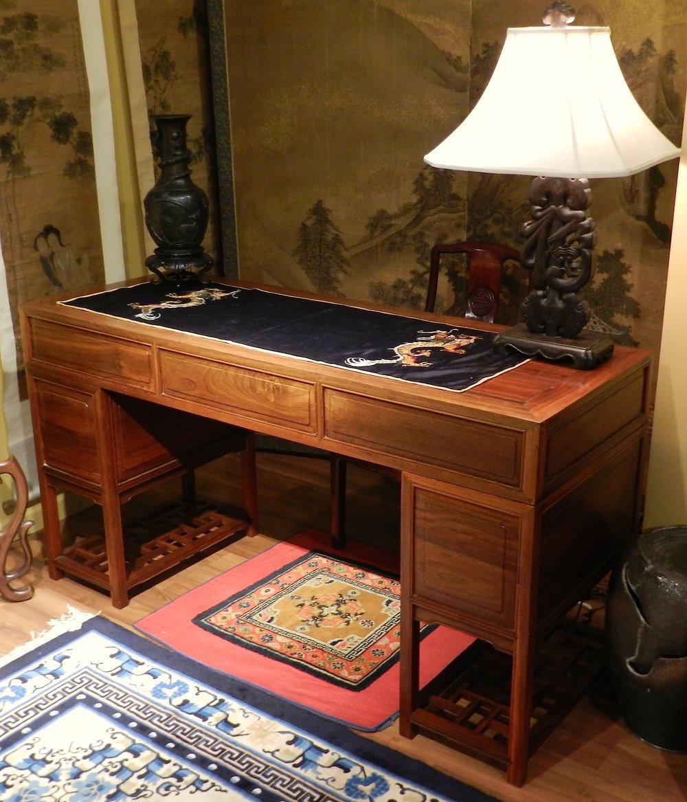 Chinese Double Pedestal Scholar's Desk