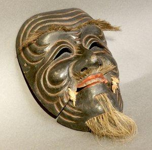 古色古香的木制面具