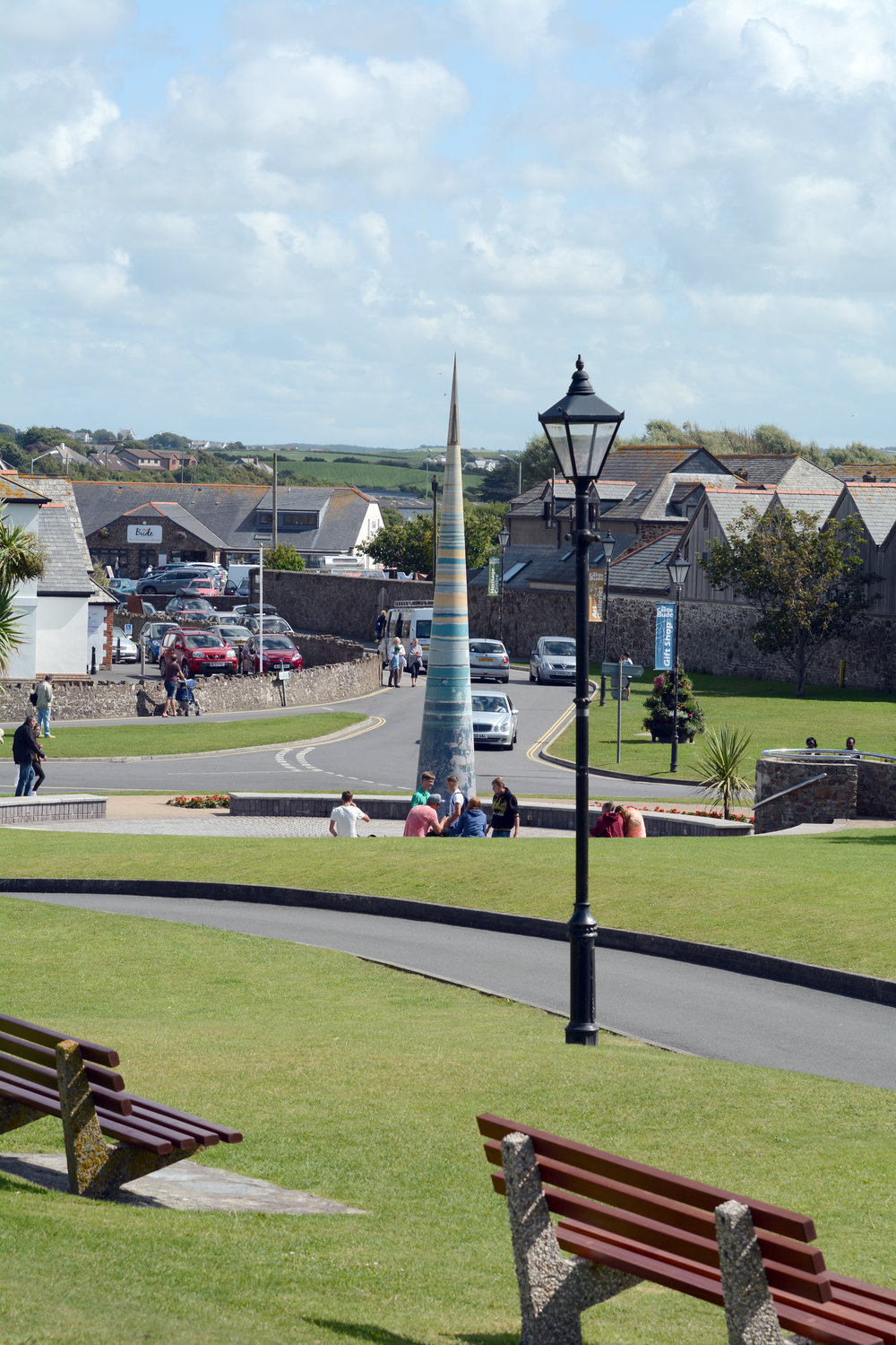 The seaside town of Bude and it's Bude Light, just two miles away.