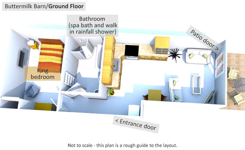 Buttermilk Barn - Ground Floor Plan