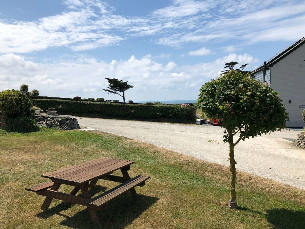 Shared picnic areas with sea views