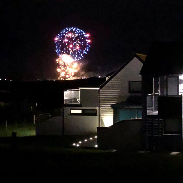 View looking over Skyfall's balcony of the Grand Firework Display this evening by @kernowfireworks for Bude Lifeboat Day #bude #bigupbude #rnli